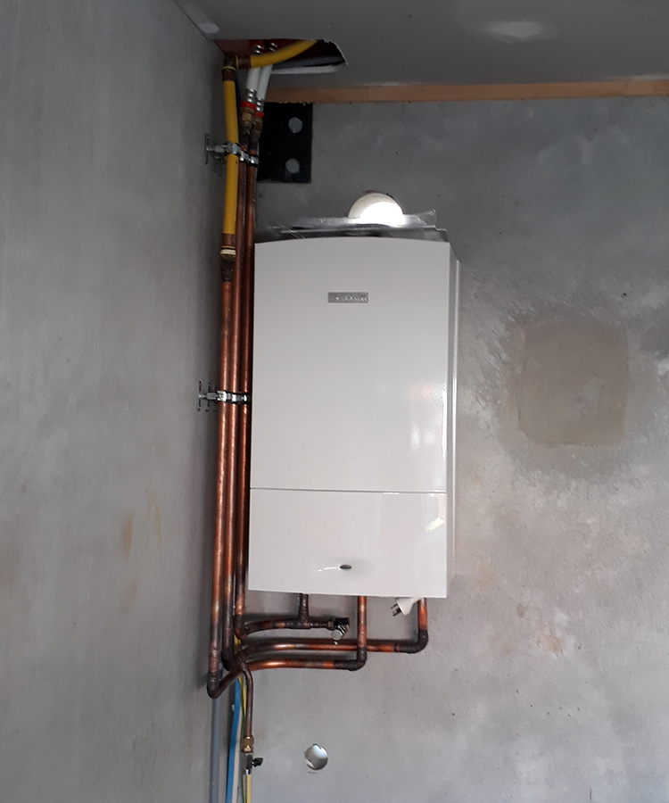 Bosch dual combi boiler installation for home central for Gas home heating systems